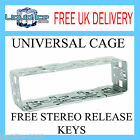 UNIVERSAL DIN RADIO MOUNTING CAGE HEAD UNIT TRIM + FREE STEREO RELEASE KEYS KIT
