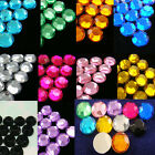 1000 to 5000 Acrylic 7mm Round Faceted Flat Back Rhinestone Craft Pick 10 Color