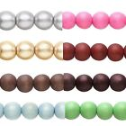 16 inch Strand of 40 Big Colored 10mm Round Wooden South Sea Smooth Wood Beads