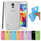 Ultra Thin TPU Gel Silicone Case Cover For SAMSUNG Galaxy S5 & Screen Protector