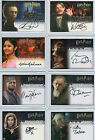 Harry Potter COS GOF OOTP 3D UD Autograph Card Selection NM Artbox