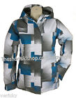 Dare2b Womens Wistful Blue Reef Ski Jacket White Abstract Pattern Ladies RRP£90
