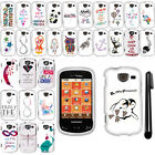 For Samsung Brightside U380 Design PATTERN HARD Protector Case Phone Cover + Pen