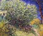LILAC BUSH FLOWER TREE IMPRESSIONISM 1889 PAINTING BY VINCENT VAN GOGH REPRO