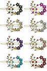 Barrette with Snap-On Hair Clip and Sparkling Stones for Thin Hair U86200-2108