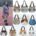 2014 Women Cute Shoulder Bag Tote Handbag Cat Face Ear Pussy Pattern Zip Shopper