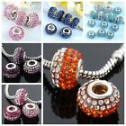 5PCS 14MM Mixed Rhinestone Charm Loose Beads For Snake Chain Charm Bracelet DIY