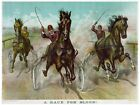 6125.A race for blood.three horses race with chariots.POSTER.Home Office art