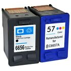 Remanufactured  56 / C6656AE & 57 / C6657AE Black & Colour Ink Cartridges for HP