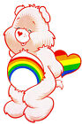 "7-10.5"" CARE BEARS CHEER BEAR HEART CHARACTER WALL SAFE STICKER BORDER CUT OUT"