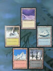 CHOOSE ONE -  EX/NM Ice Age OLD Snow-Covered Basic Land -  x1 / x4 Sets MTG Card