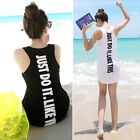 2014 New Women Ladies Summer Tops T-Shirt Vest Blouse Long Tank Tops Mini Dress