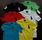 NWT Ralph Lauren Boys S/S Big Pony Solid Mesh Polo Shirts 4 5 6 or 7 NEW $40 5a