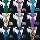USA 20 Colors New Classic Mens 100% Silk Red Blue Black Jacquard Woven Necktie