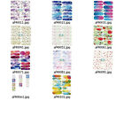 af400m94 NAIL WRAPS STICKERS Self Adhesive Polish Foils Decoration Art Decals