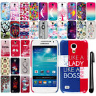 For Samsung Galaxy S4 mini I9190 Cute Design PATTERN HARD Case Back Cover + Pen