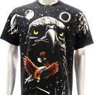 r24 M L XL XXL XXXL Rock Eagle T-shirt SPECIAL Tattoo Skull Punk Biker Indie Men