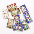 Colorful Wholesale Great Equisite Rectangle Cloisonne Loose Beads