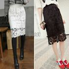 Sexy Women's Vintage Embroidered Crochet Flower Floral Lace Skirt Pencil dress