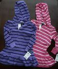 NWT Ralph Lauren Infant Girls L/S Hooded Striped Cotton Dress 12m 18m 24m NEW 5d