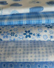 6 Fat Quarter Bundles  Pink Summer & Meadow Blue Choose Colour FREEPOST