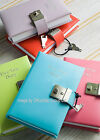 QUALITY GENUINE REAL LEATHER SMALL SIZE FIVE YEAR DIARY LOCKABLE WITH LOCK/ KEY