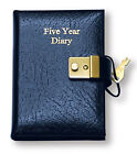 QUALITY GENUINE REAL LEATHER SMALL LOCKABLE 5 YEAR DIARY WITH LOCK AND KEY ©