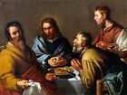 6583.Jesus breaking bread with four possible apostles.POSTER.art wall decor