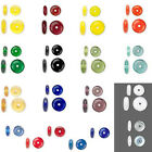 20 Flat Round Czech Glass Rondelle Spacer Disc Beads Assorted Colors Available