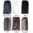 EA Women Faux Fur Soft Lower Leg Warmer Muffs Boot Shoes Ankle Sleeves Cover