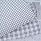 KENT 2 -  GREY  YARN DYED GINGHAM - 9mm 3mm  CHECK COTTON FABRIC bunting