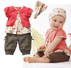 Baby Infant Kid Top+Pants+Headband 3 Piece Girl Costume Toddler Outfit Set 0-24M