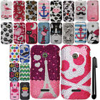 For Huawei Prism 2 U8686 Inspira H867G DIAMOND BLING HARD Case Phone Cover + Pen