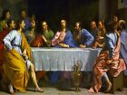 6991.Portrait of the last supper.men sitting around table.POSTER.art wall decor