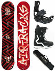 SNOWBOARD SET AIRTRACKS HIGHER ROCKER+BINDUNG+BOOTS+SB BAG+PAD /150cm 155cm/ NEU