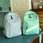 Sweet Canvas Lace Backpack Cute Girls Schoolbag Handbag Campus Book Bag Fashion