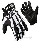 Racing Cycling Mountain Bike Bone Print Bicycle Sport Full Finger Gloves M L XL