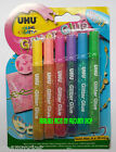 UHU GLITTER GLUE - 6 x 10ml Tubes in Assorted Colours