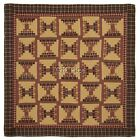 Kendrick Court House Steps Patchwork Quilt Cal King, King, Queen, Twin Red & Tan