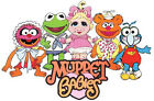 "7-10.5"" MUPPET BABIES GROUP KERMIT & GONZO WALL SAFE STICKER CHARACTER BORDER"