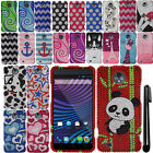 For ZTE Vital N9810 Supreme DIAMOND BLING CRYSTAL HARD Case Cover Phone + Pen