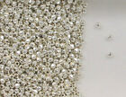 Sterling Silver 2mm Faceted Round Beads, New