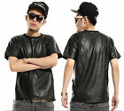 weilin Unisex Luxury Hipster Faux Alligator Leather Hip Hop T shirts Y0187