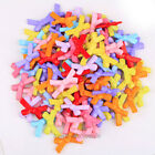 Mixed Plastic Bowknot Charms Loose Beads Connectors for Bracelet Necklace Making
