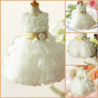 Beige Communion X'mas Wedding Flower Girls Party Dresses AGE 2,3,4,5,6,7,8,10,12