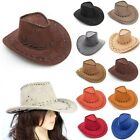 New Cowboy Hat Suede Look Wild West Fancy Dress Mens Ladies Cowgirl Unisex Hats