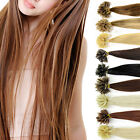 100% naturel 100 Cheveux extensions 45cm pose a chaud 9 couleurs remy hair