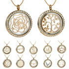 New Living Memory Minimalist Floating Charms Round Glass Locket Pendant Necklace