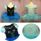 Girls Kids Frozen Elsa Anna Halloween Ballet Tutu Dress SZ2-8Y Leotard Dancewear