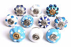 Fabulous Blue & White Ceramic Cupboard Knobs Kitchen Door Knobs Drawers Pull